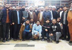 بازدید طلاب مدرسه علمیه معصومیه از کتابخانه آیت الله مرعشی نجفی